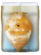 Ceramic Pot From Olympia. Duvet Cover