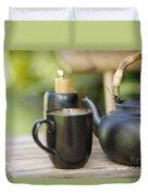 Ceramic Tea Set Duvet Cover