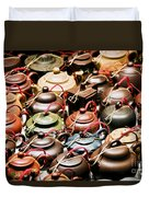 Ceramic Teapots Duvet Cover