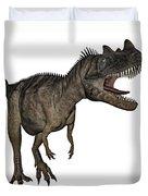 Ceratosaurus Dinosaur Roaring Duvet Cover