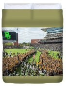 Ceremonial Running Of The Baylor Line Duvet Cover