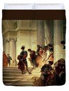 Cesare Borgia Leaving The Vatican Duvet Cover by Giuseppe Lorenzo Gatteri