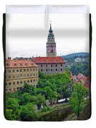 Cesky Krumlov Castle Complex In The Czech Republic Duvet Cover