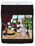 C'est Le Temp Pour Le Vin Duvet Cover