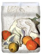 Cezanne Oranges Digital Art Duvet Cover