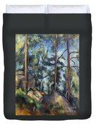 Cezanne: Pines, 1896-99 Duvet Cover