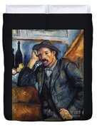 Cezanne: Pipe Smoker, 1900 Duvet Cover