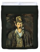 Cezanne: Pipe Smoker, C1892 Duvet Cover