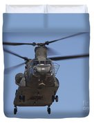 Ch-47 Chinook Flies Over Playas Duvet Cover
