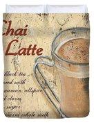 Chai Latte Duvet Cover by Debbie DeWitt