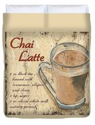 Chai Latte Duvet Cover