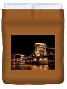 Chain Bridge - Budapest Duvet Cover