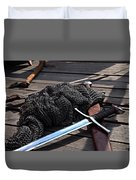Chain Mail And Sword Duvet Cover