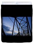 Chain Of Rocks Bridge Duvet Cover