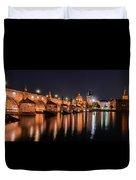 Chains Bridge In Prague Duvet Cover