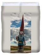 Chainsaw Art Gnome Duvet Cover