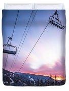 Chairlift Sunset Duvet Cover