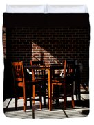 Chairs And Shadows Duvet Cover