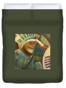 Chairs Around The Table Duvet Cover
