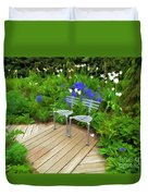 Chairs In The Garden Duvet Cover
