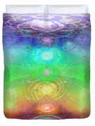 Chakra Activation Geometry Template Duvet Cover