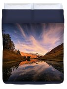 Chalet With An Autumn View Duvet Cover