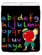 Chalk Board Alphabet B Duvet Cover