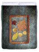 Chalkboard Leaves Duvet Cover