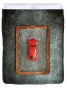 Chalkboard Toy Car Duvet Cover