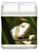 Chameleon Up-close 1 Duvet Cover