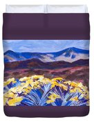 Chamisa And Mountains Of Santa Fe Duvet Cover