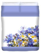 Chamomile And Cornflower Mix Duvet Cover