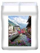Chamonix, France Duvet Cover