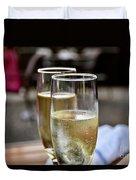 Champagne Glasses Duvet Cover
