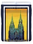 Champagne, Reims, Cathedral, France Duvet Cover