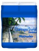 Champagne Snorkel Dominica Shirt Duvet Cover