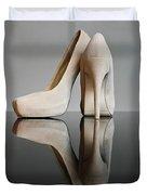 Champagne Stiletto Shoes Duvet Cover