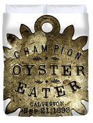 Champion Oyster Eater - To License For Professional Use Visit Granger.com Duvet Cover