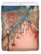 Champs De Elysee At Twilight. #paris Duvet Cover