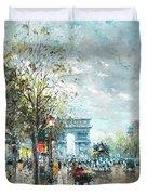 Champs Elysees Avenue, Paris Duvet Cover