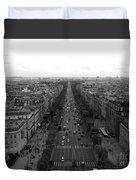 Champs Elysees In Paris Duvet Cover