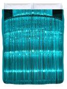 Chandelier In Blue 3 Duvet Cover