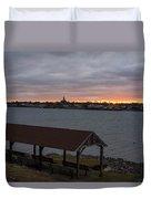 Chandler Hovey Park Sunset Marblehead Ma Duvet Cover