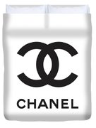 Chanel - Black And White 04 - Lifestyle And Fashion Duvet Cover