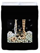 Chanel Coco With Pearls Duvet Cover