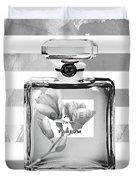 Chanel Flower Grey Duvet Cover