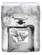 Chanel Grey Flower Duvet Cover