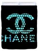 Chanel Light Blue Points Duvet Cover