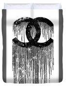 Chanel Logo Black White 1 Duvet Cover