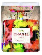 Chanel No. 5 Colored  Duvet Cover